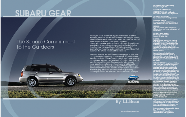 Subaru Gear by L.L.Bean